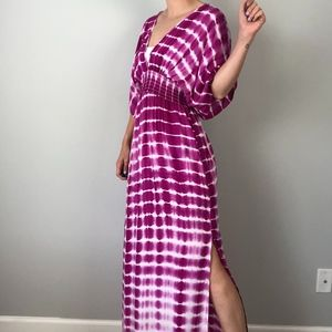 Lovestitch   Tie Dye Purple Maxi Dress NWT